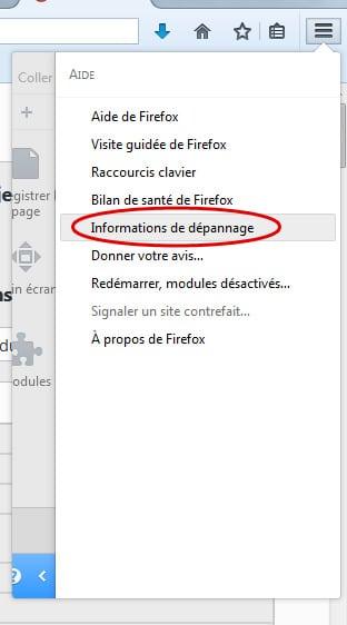 firefox-information-depannage Restaurer les paramètres par défaut de Firefox en un clic
