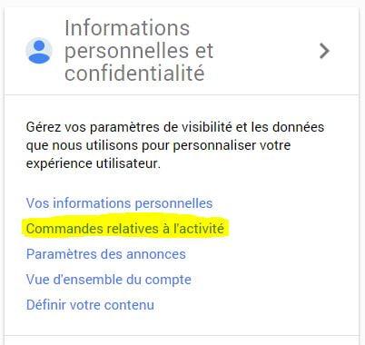 google-confidentialite Comment désactiver votre historique de recherche et de localisation dans Google