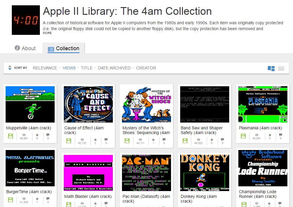 internet-archive-apple-ii-library Des centaines de jeux pour Apple II jouables dans votre navigateur