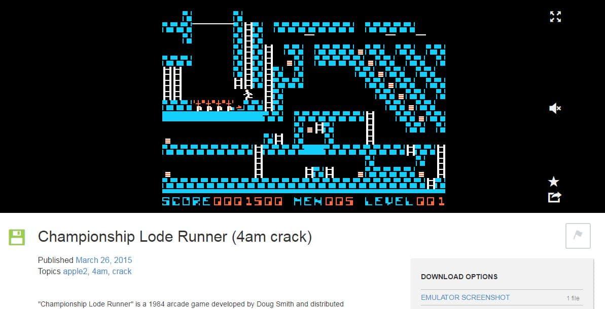 lode-runner-apple-ii Des centaines de jeux pour Apple II jouables dans votre navigateur