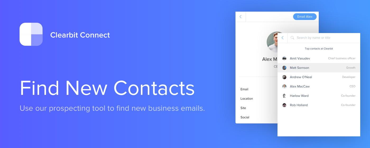 clearbit Trouver l'adresse email professionnelle de n'importe qui grâce à Clearbit