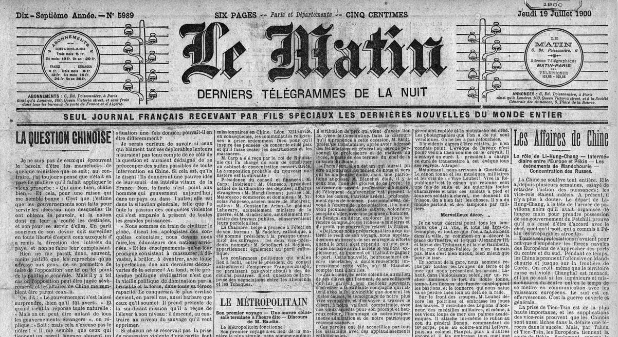 retronews-le-matin-19-07-1900 RetroNews : accédez à 3 siècles de presse française !