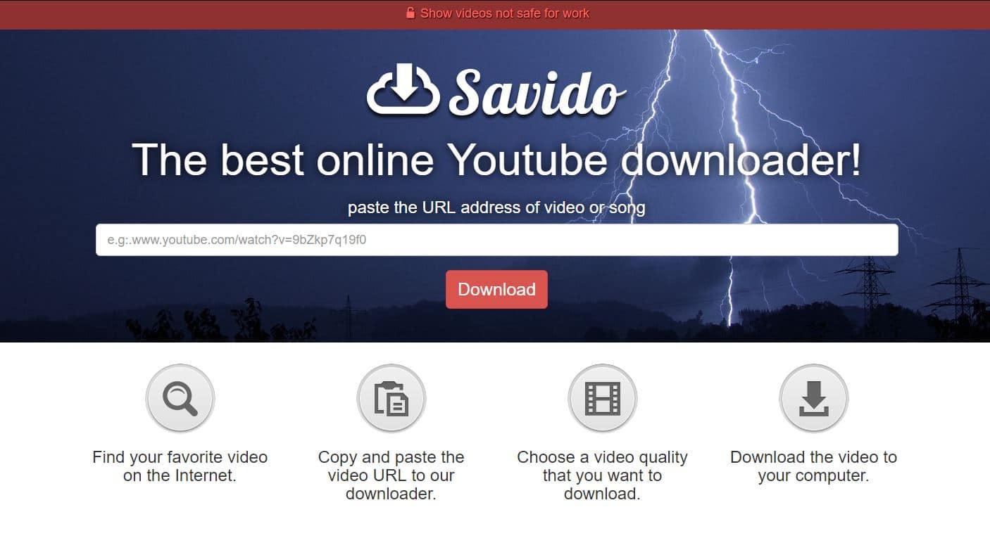 savido Savido : télécharger les vidéos de la plupart des plateformes de vidéos
