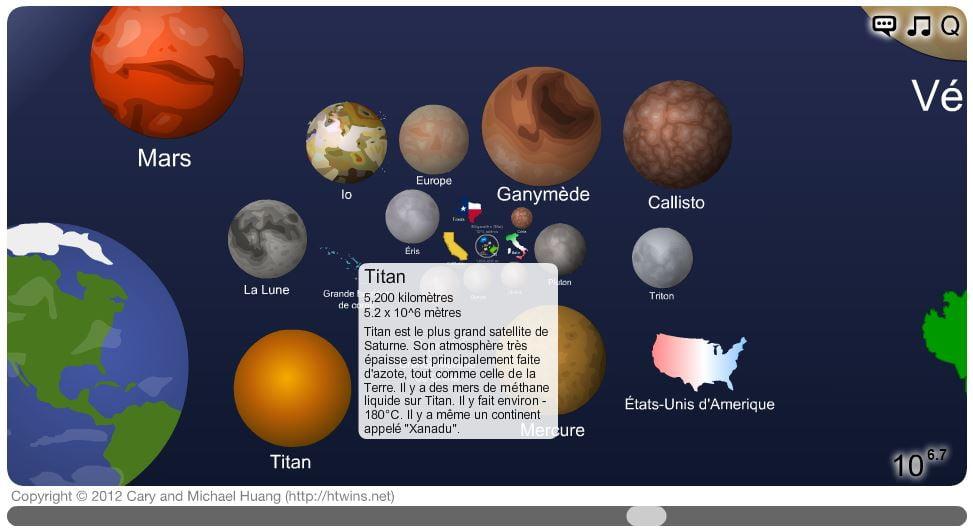 echelle-univers-commentaire Une animation web pour se rendre compte de la taille de notre univers
