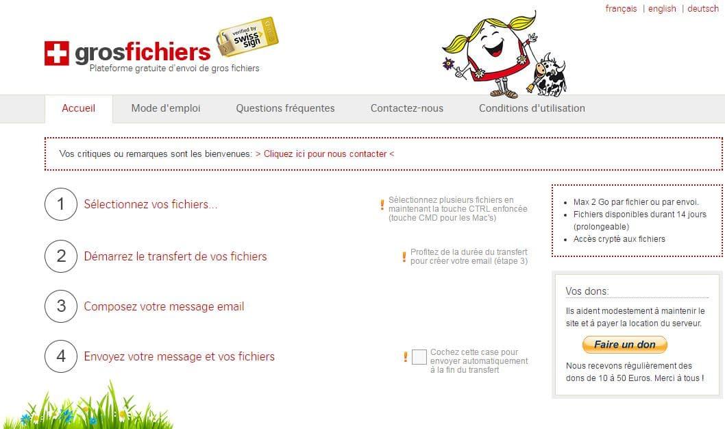 grosfichiers Le top 10 des sites gratuits pour l'envoi de gros fichiers