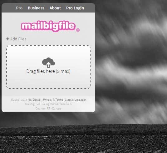 mailbigfile Le top 10 des sites gratuits pour l'envoi de gros fichiers