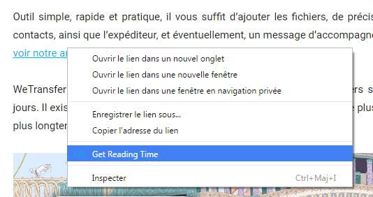 readism-get-reading-time Readism : connaître le temps qu'il vous faudra pour lire un article dans Chrome