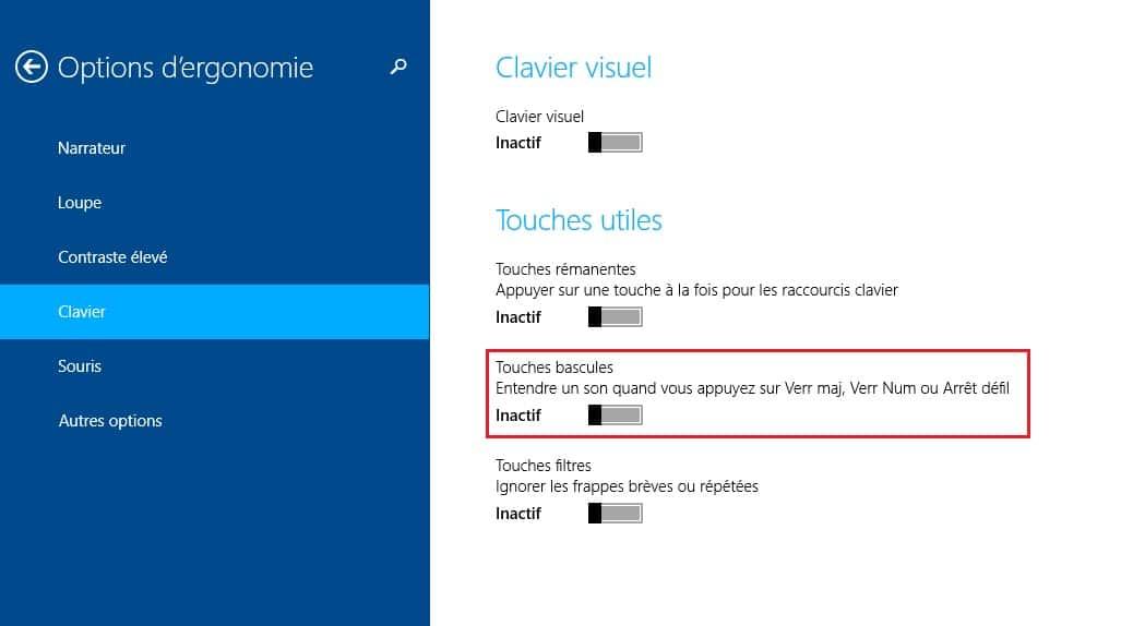 touches-bascules-windows8 Etre alerté lorsque vous activez le verrouillage des majuscules sous Windows