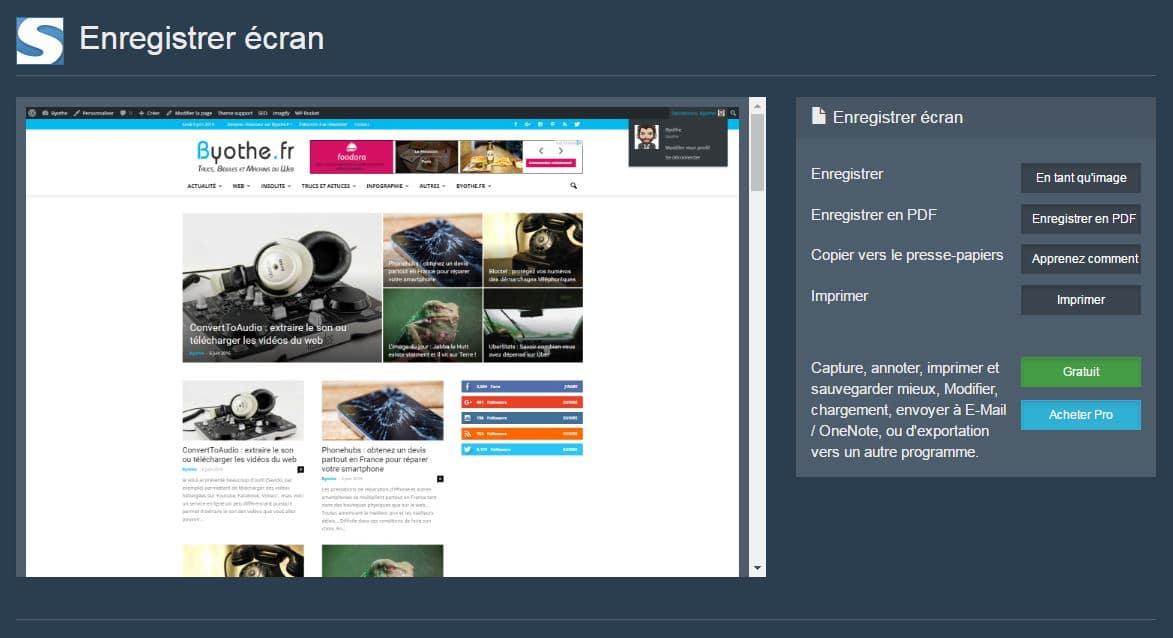 fireshot-capture Une extension pour faire une capture d'écran d'une page web entière