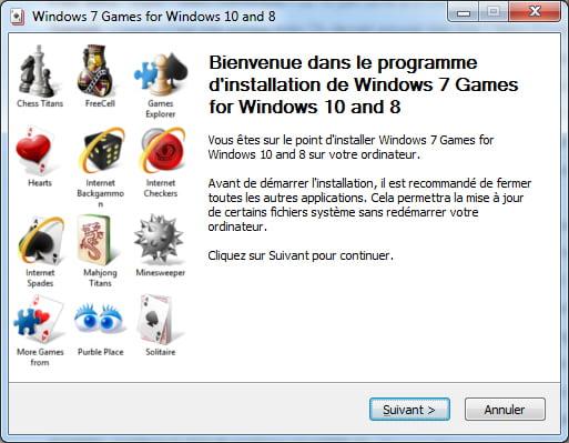 jeux-windows-7-installation Comment retrouver les jeux classiques de Windows 7 sur Windows 8 et 10 ?