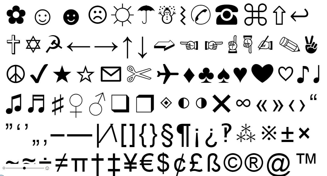 copypastecharacter Copier des caractères spéciaux qui ne sont pas sur votre clavier ☆