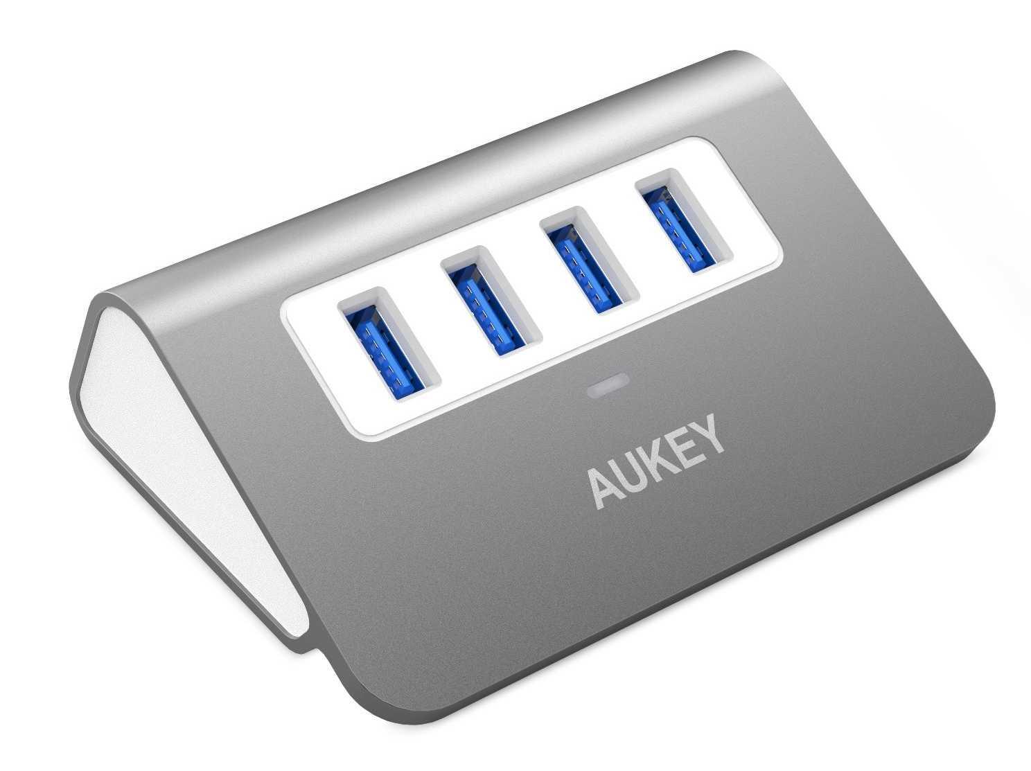 hub-usb-aukey-e1471264580405 Promo : enceinte Bluetooth, hub USB et câbles USB à ne pas manquer !