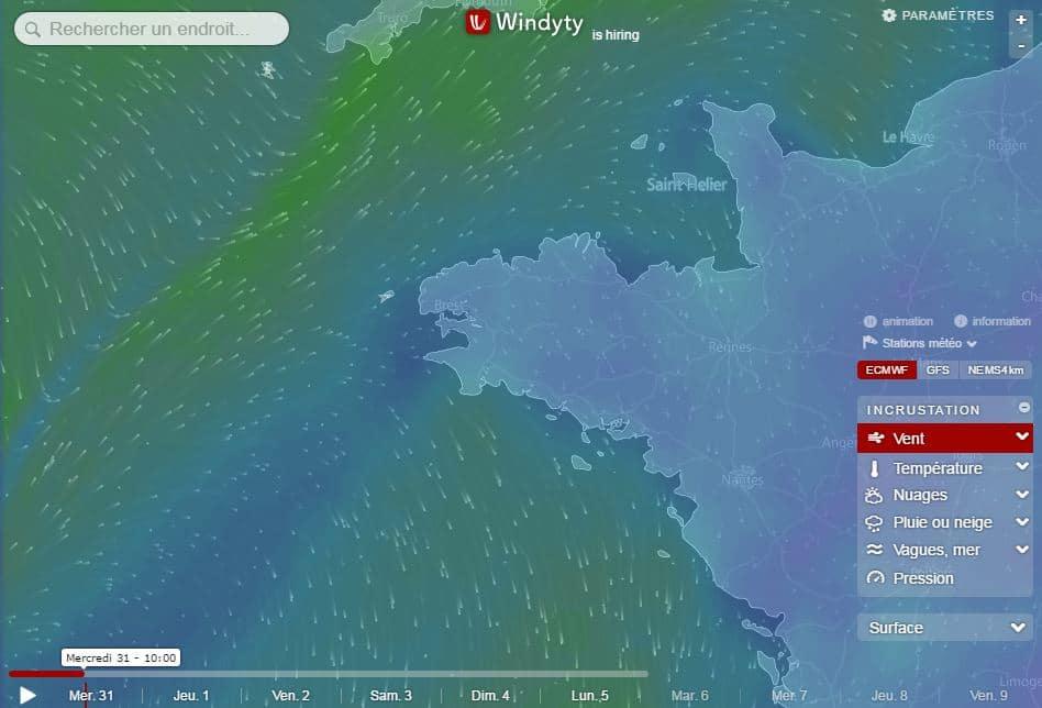 windyty Windyty, la météo en ligne ultime pour les kitters, navigateurs, pilotes et tous les autres !