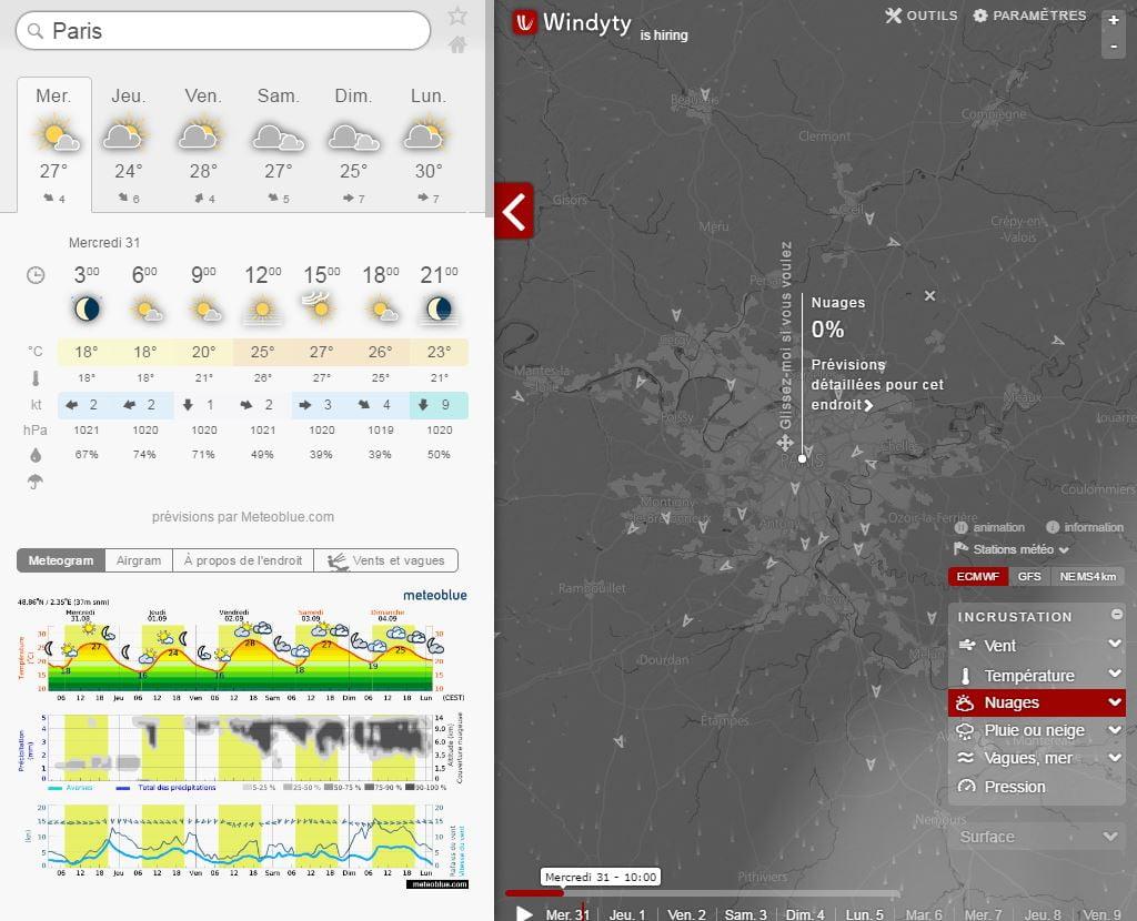 windyty3 Windyty, la météo en ligne ultime pour les kitters, navigateurs, pilotes et tous les autres !