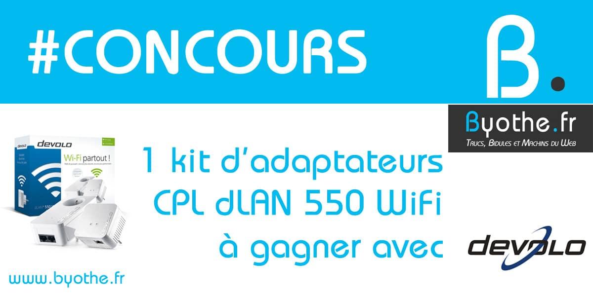 concours-devolo-cpl #Concours : un kit d'adaptateurs CPL dLAN 550 WiFi de Devolo à gagner !
