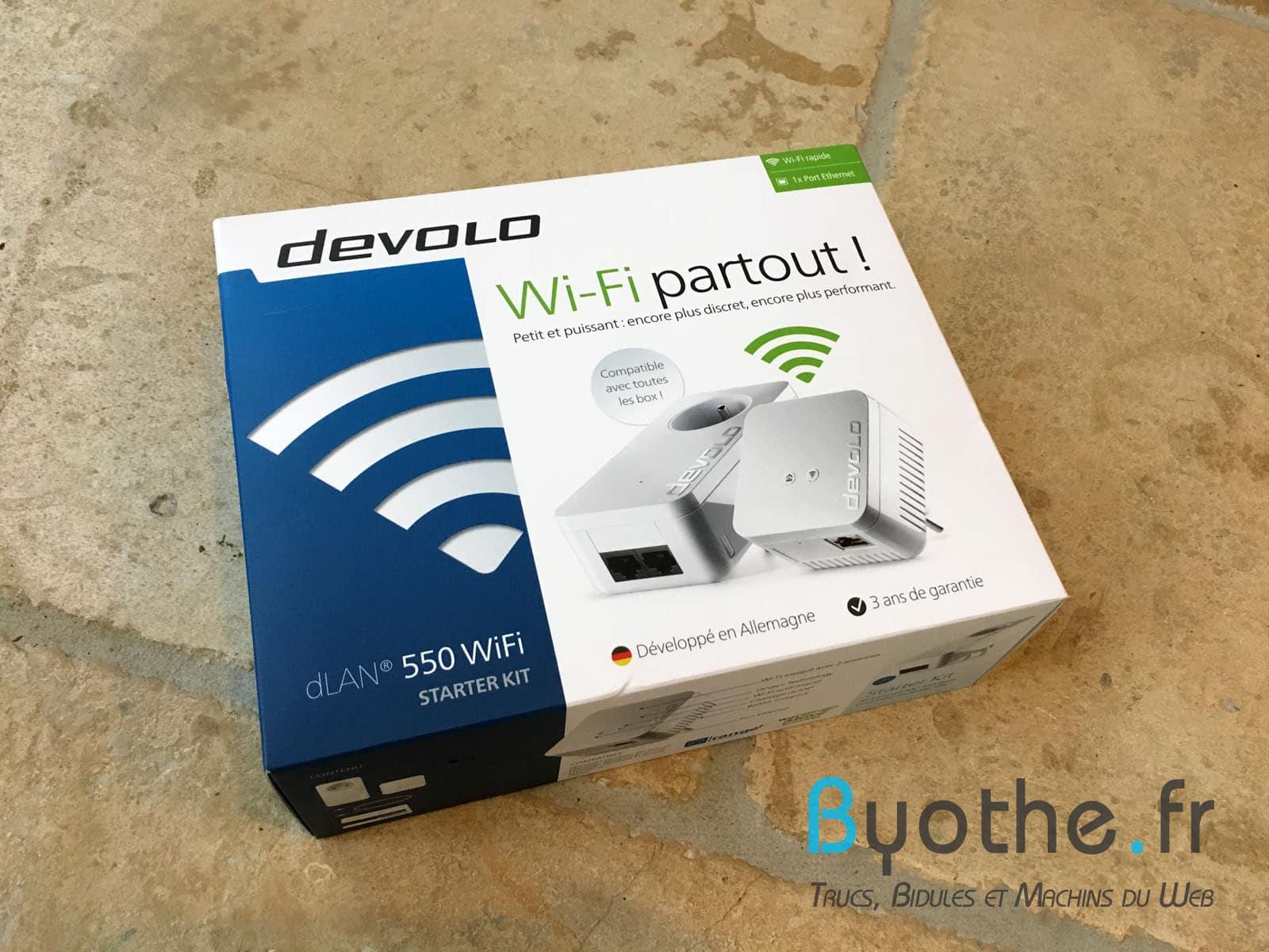 devolo-dlan-550-boite #Concours : un kit d'adaptateurs CPL dLAN 550 WiFi de Devolo à gagner !