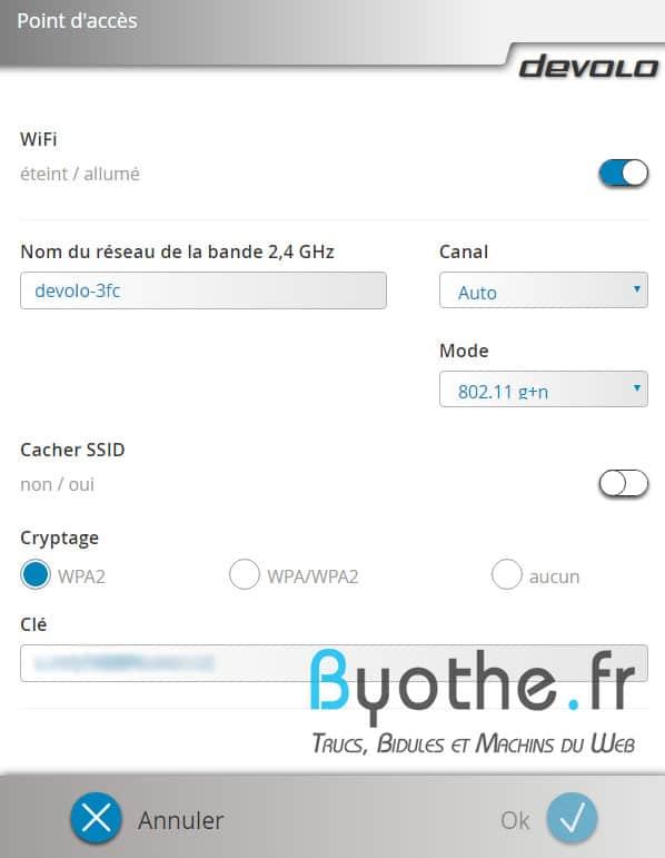 devolo-reglages-reseau Test de l'adaptateur CPL dLAN 550 WiFi de Devolo. En un mot : simplicité !