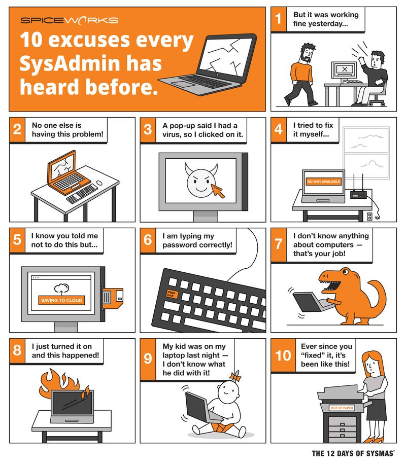 sysmas-2016-10-reasons-comicstrip Infographie : les meilleures excuses des utilisateurs à leurs informaticiens