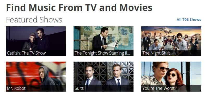 tunefind-screenshot TuneFind vous permet de trouver les musiques dans les films et séries !