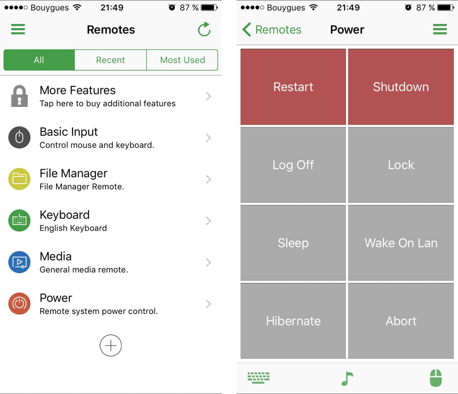 unified-remote Comment mettre en veille ou éteindre votre ordinateur à distance depuis votre smartphone