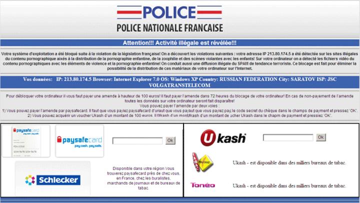 ransomware-exemple-police Ransomware, qu'est-ce que c'est et comment se protéger avec Kaspersky ?