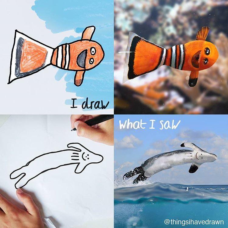things-i-have-drawn-mer Un papa donne vie aux dessins de son fils de 6 ans et c'est perturbant !