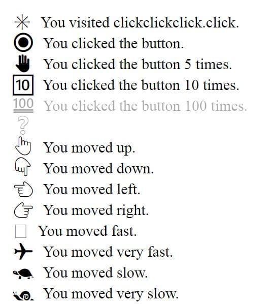 Clickclickclick-achievements Ce site web intrigant sait exactement ce que vous êtes en train de faire