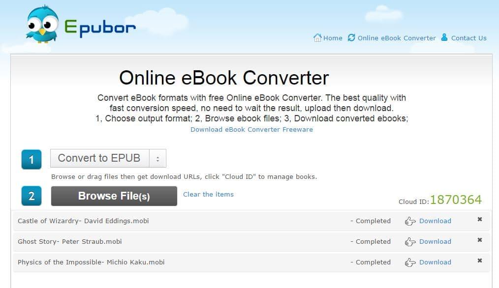 online-ebook-converter Comment convertir des ebooks gratuitement et en ligne avec Online eBook Converter