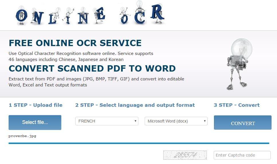 onlineocr Convertir facilement et gratuitement une image en texte éditable