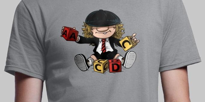 tee-shirt-leger-acdc-guitare-humour-musique-rock-acdc #Concours : 3 bons d'achat de 30 euros sur RueDuTeeShirt.com à gagner !