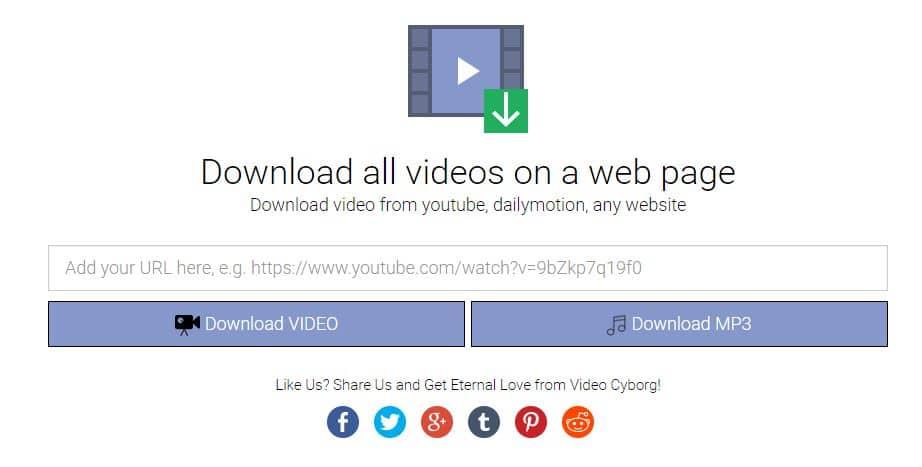 video-cyborg Video Cyborg : télécharger toutes les vidéos présentes sur un page web