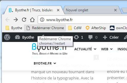 chrome-restart-favori Redémarrer instantanément Chrome en conservant ses onglets