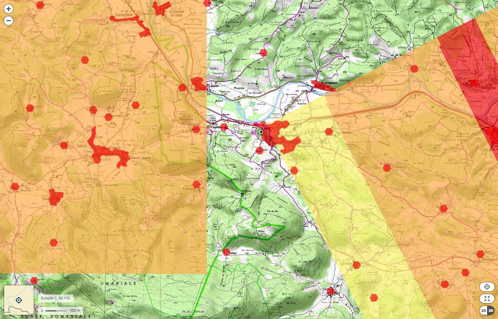 geoportaille-ign-drone-home L'Etat vient de mettre en ligne une carte interactive des zones interdites aux drones de loisir
