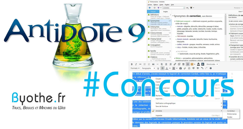 concours-antidote #Concours : 3 licences du logiciel de correction Antidote 9 à gagner !