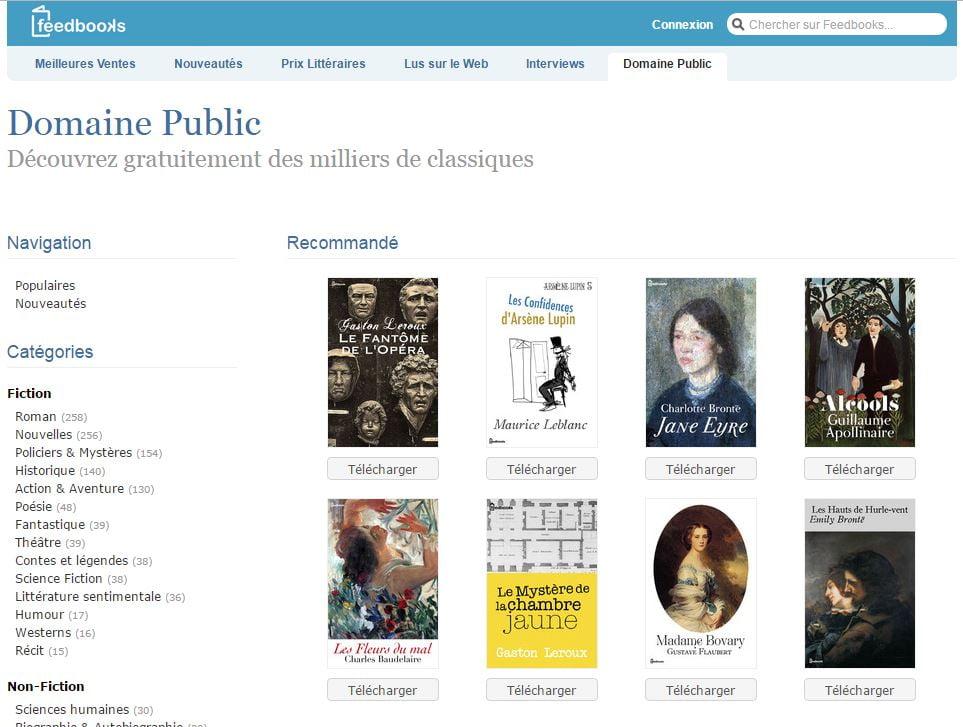 feedbooks 5 sites pour trouver facilement des ebooks gratuits