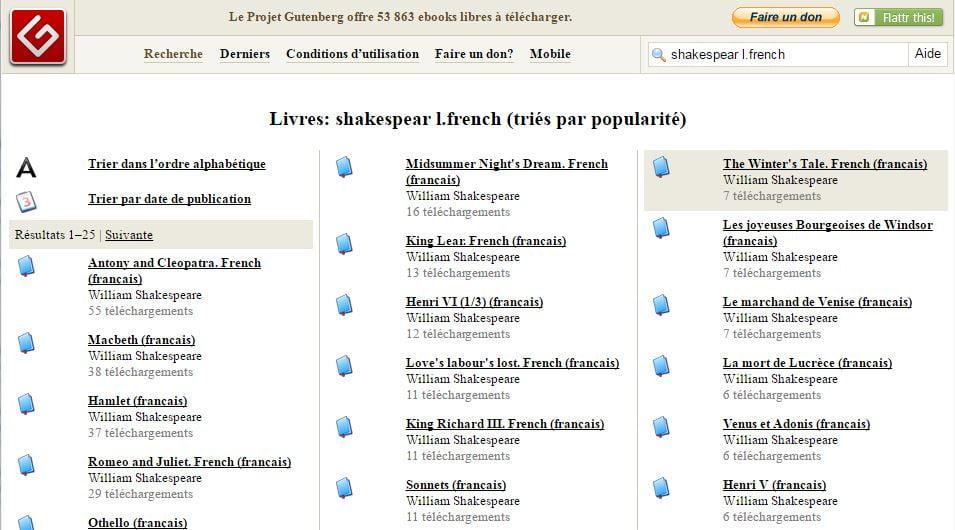 gutenberg 5 sites pour trouver facilement des ebooks gratuits