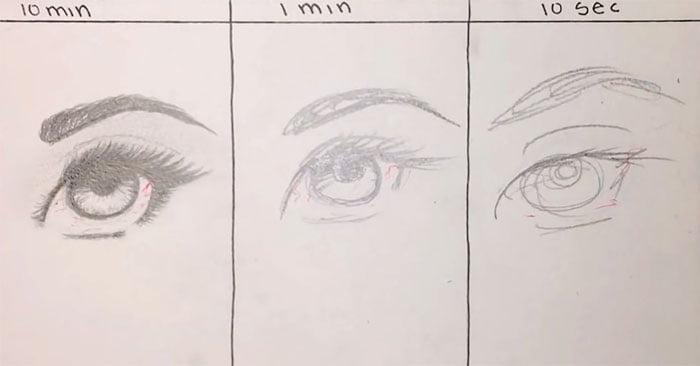 speed-drawing-challenge-2 Des artistes réalisent le même dessin en 10 minutes, 1 minutes et 10 secondes !