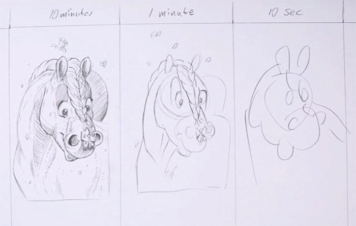 speed-drawing-challenge-3 Des artistes réalisent le même dessin en 10 minutes, 1 minutes et 10 secondes !