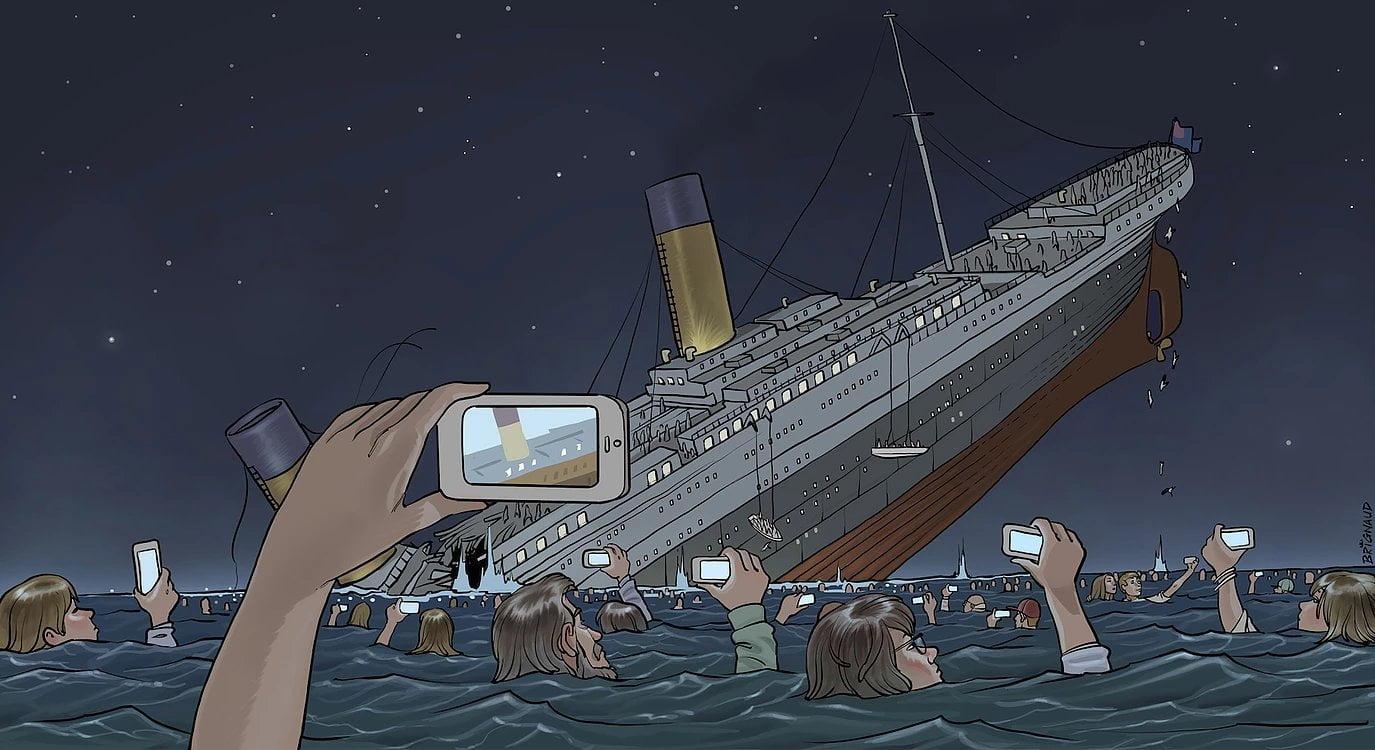 titanic-today L'image du jour : et si le Titanic coulait aujourd'hui...