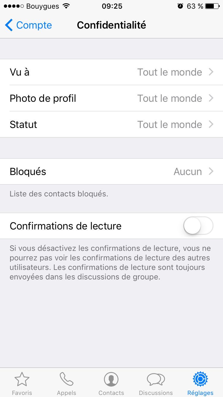 whatsapp-5 Empêcher vos contacts WhatsApp de voir que vous avez lu leurs messages