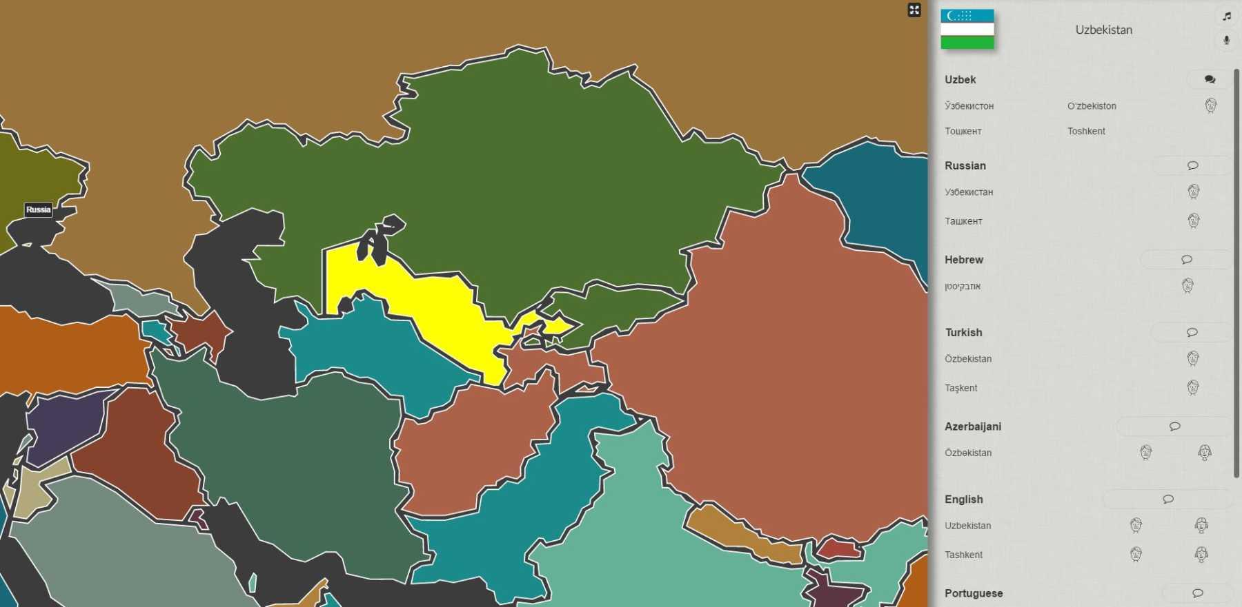 localingual-uzbekistan Un site web pour entendre les langues et accents du monde entier !