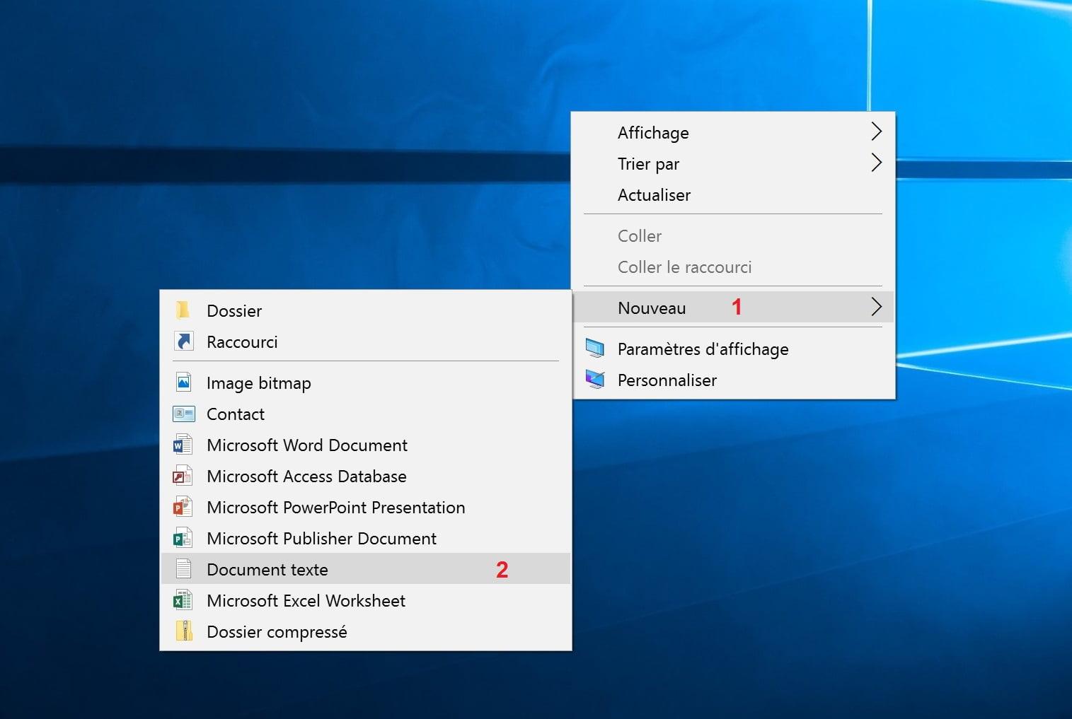 """afficher-le-bureau-etape1 Retrouver le bouton """"Afficher le bureau"""" des anciennes versions de Windows"""