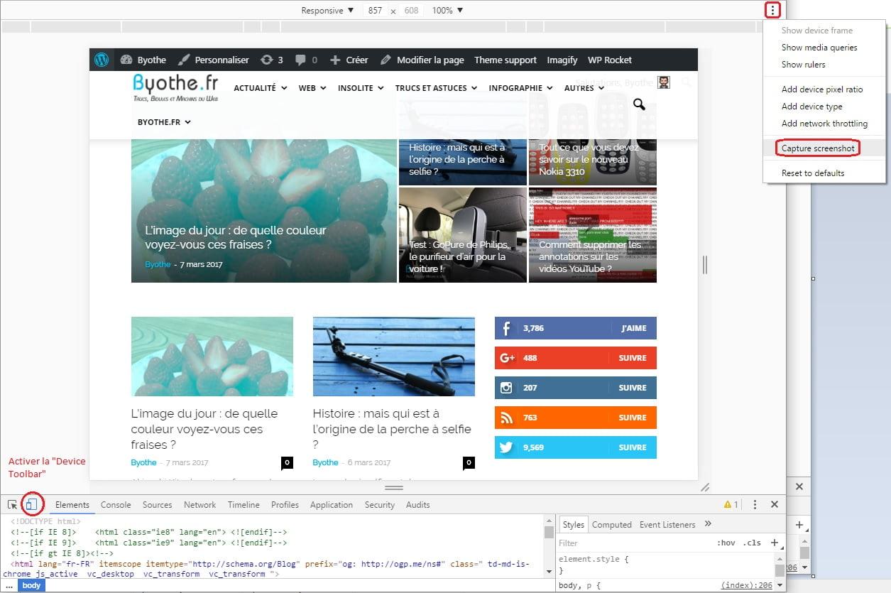 chrome-screenshot Faire une capture d'écran dans Google Chrome sans extension
