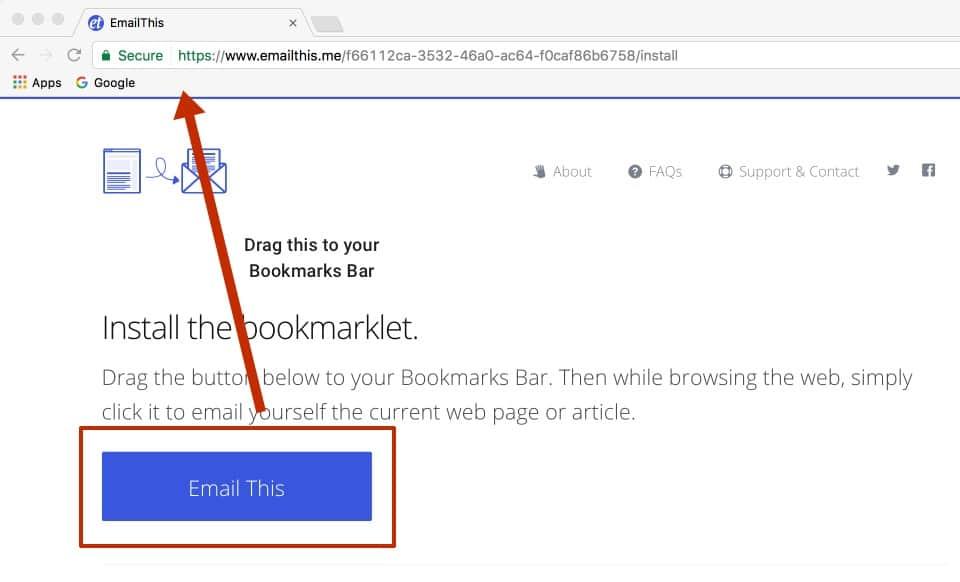 email-this-bookmarklet EmailThis : envoyez des articles sur votre boite mail pour les lire plus tard !