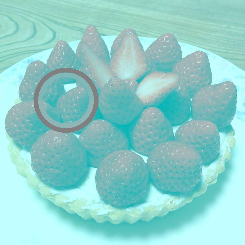 tarte-aux-fraises-gris L'image du jour : de quelle couleur voyez-vous ces fraises ?