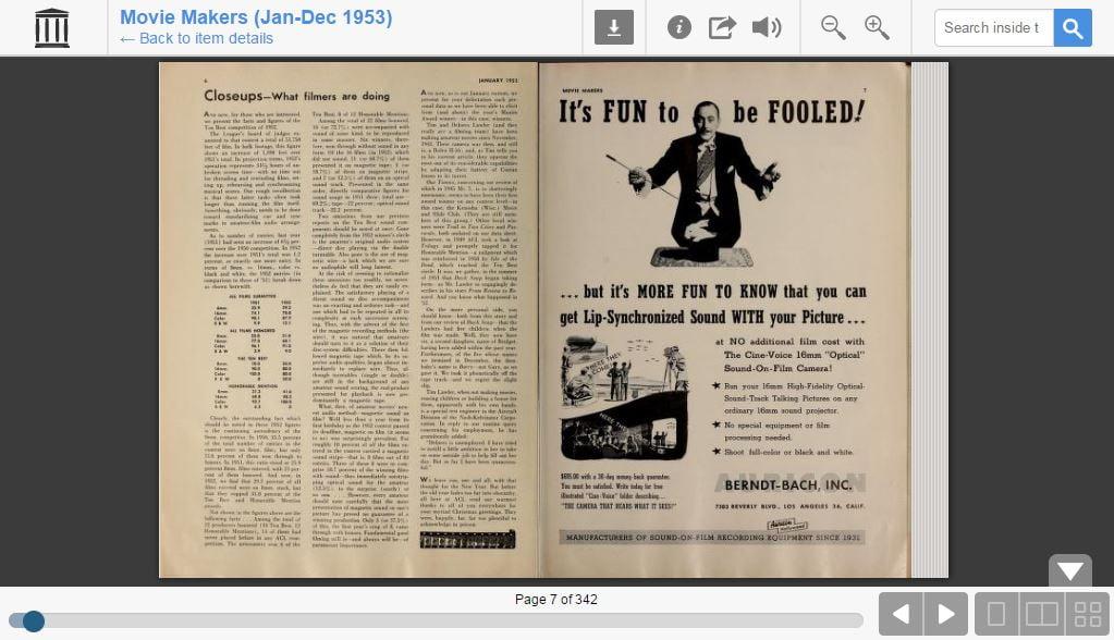 lantern-cinema-consultation Lantern, accédez en ligne à des milliers de revues anciennes sur le cinéma