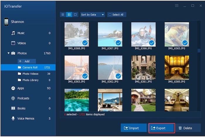 iotransfer-screenshot IOTransfer, un logiciel alternatif de transfert pour iPhone