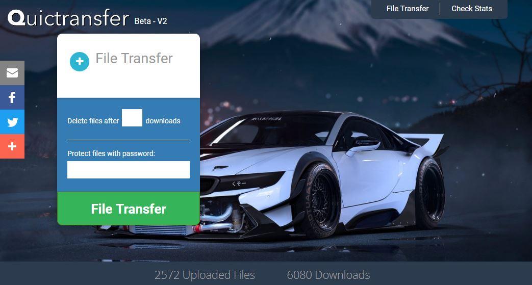 quictransfer Quictransfer : envoyez et partagez des fichiers jusqu'à 20 Go