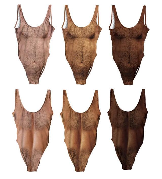 """sexy-chest-teintes L'image du jour : le maillot de bain pour femme """"torse poilu"""""""