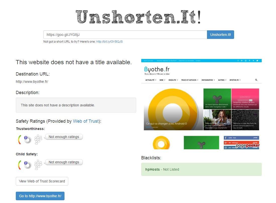 unshorten-it Comment jeter un coup d'oeil à une URL raccourcie sans cliquer dessus ?